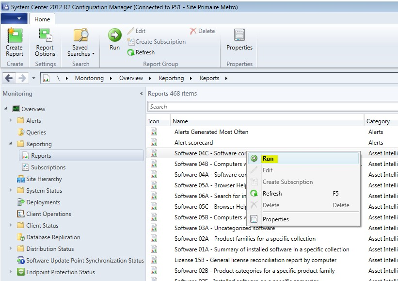 SCCM 2012 Reports not running