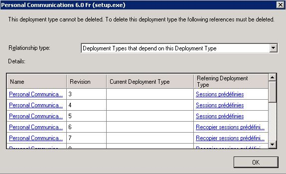 sccm deployment type cannot be deleted