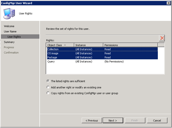 SCCM 2012 Migration Account Permissions for 2007 Hierarchy