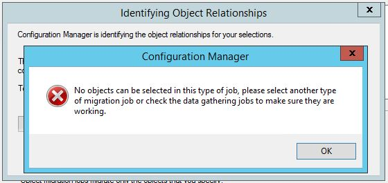 SCCM Migration Job Error