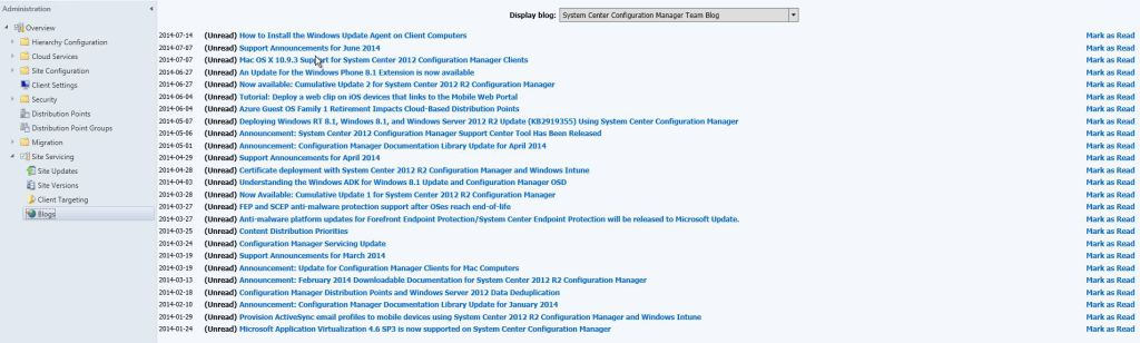 Configuration Manager Servicing Extension