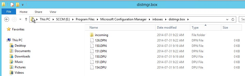 Importing Package Loop during Distribution Point Migration