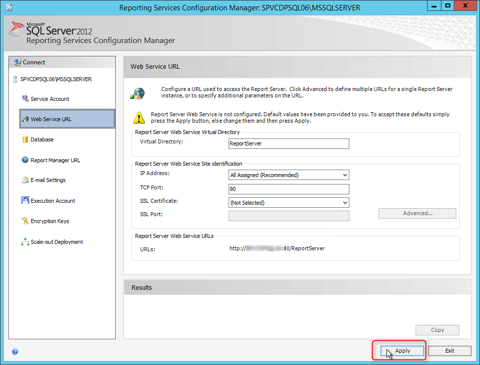 Install SCCM 2012 Reporting Services Point