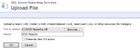 Upload RDL file to Report Server