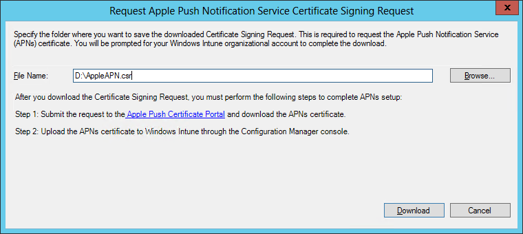How to enroll an iOS device in SCCM