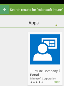 SCCM android device enrollment