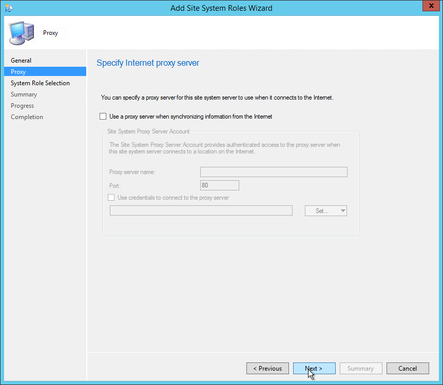 sccm 2012 install asset intelligence synchronization point
