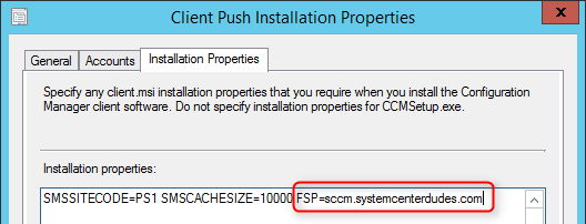 sccm 2012 install fallback status point