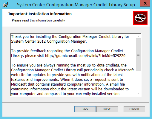 SCCM Cmdlet Library