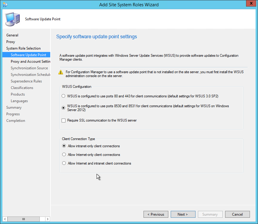 How to install Software Update Point in SCCM 2012 R2