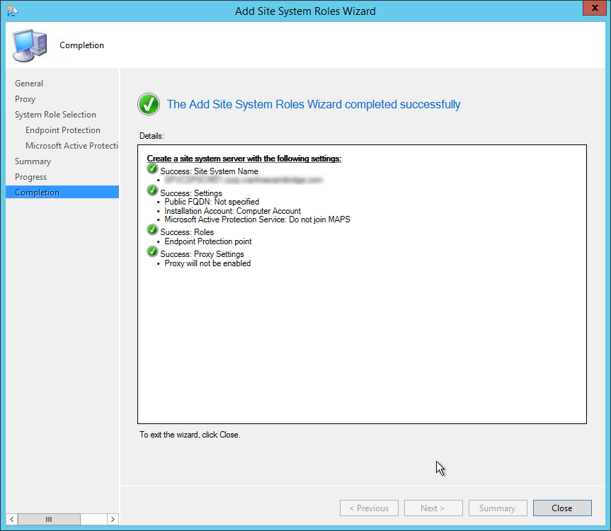 sccm 2012 endpoint protection point