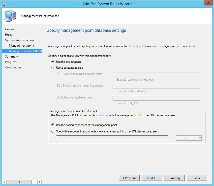 SCCM 2012 R2 Management Point Installation