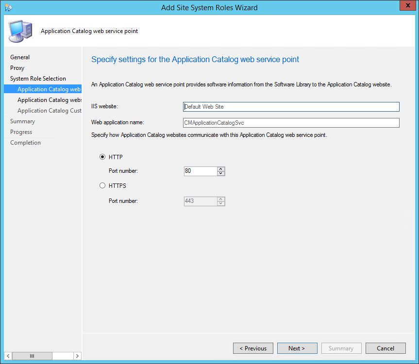 How to install SCCM 2012 Application Catalog
