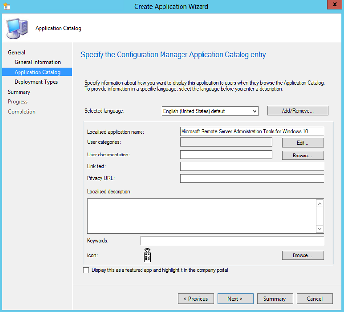 Windows 10 RSAT SCCM 2012