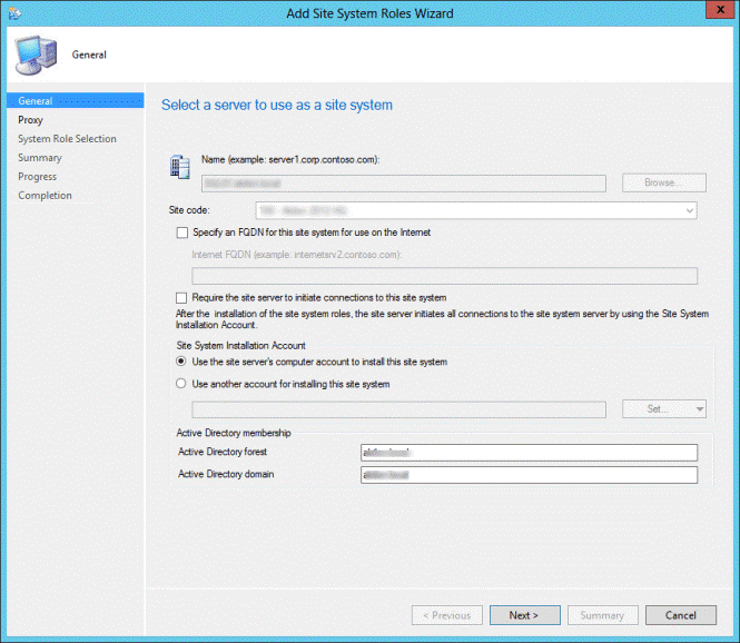 SCCM Service Connection Point