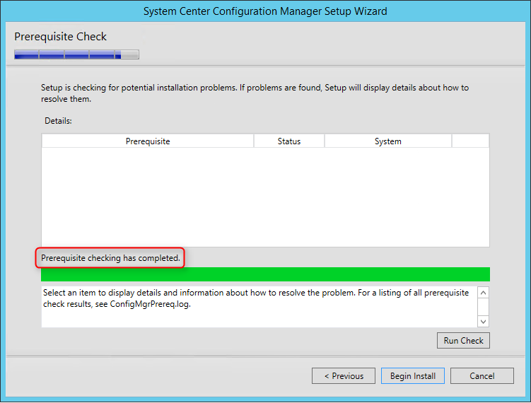 SCCM 1511 installation