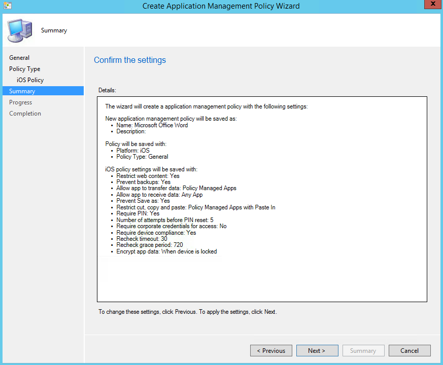 SCCM Intune IOS Application