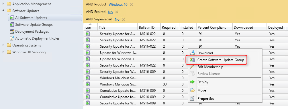 SCCM Windows 10 deployment