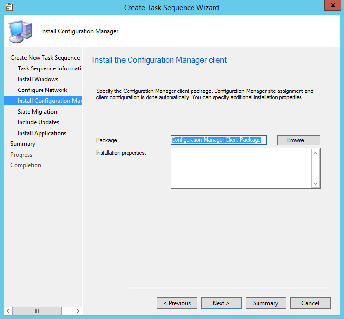 SCCM Windows 10 Task Sequence