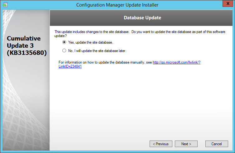 SCCM 2012 R2 SP1 CU3 Installation guide
