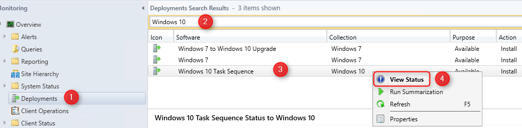 Monitor SCCM Task Sequence