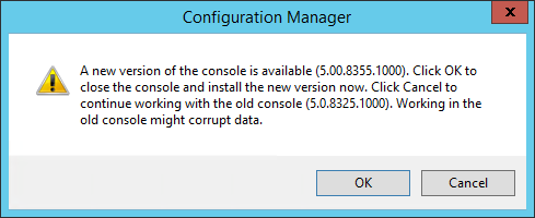 SCCM 1602 upgrade guide