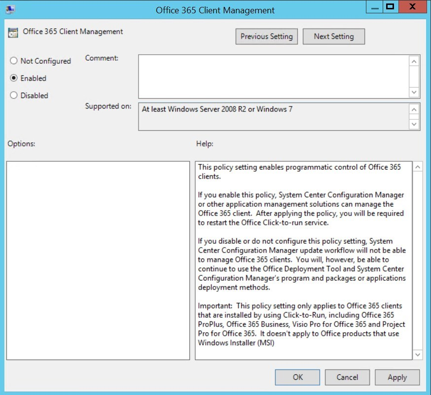 SCCM Office 365