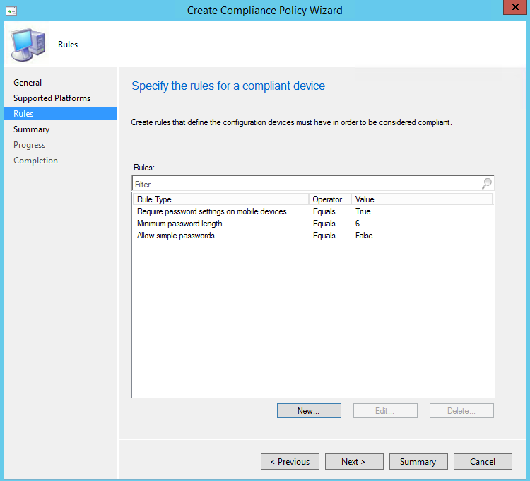 sccm mac compliance policy
