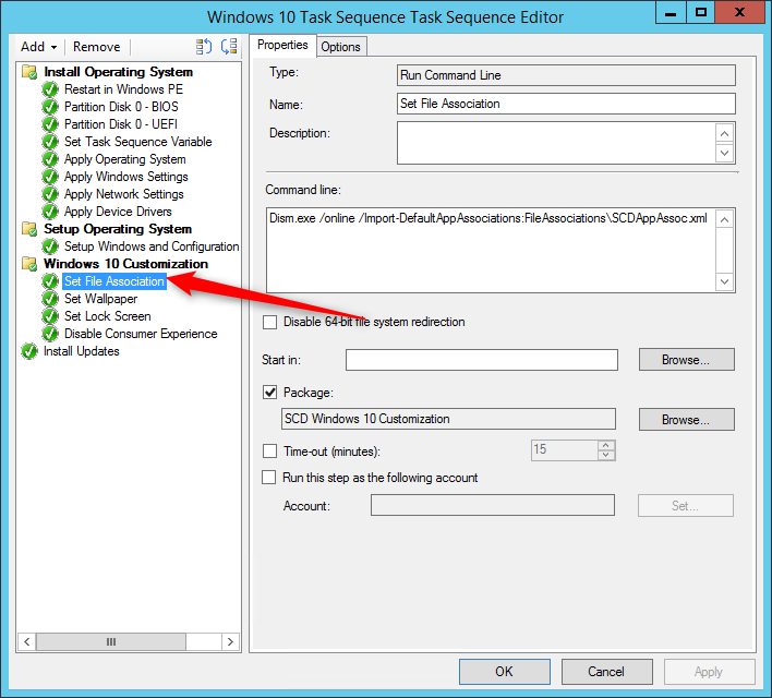 SCCM Windows 10 Customization using Task Sequences