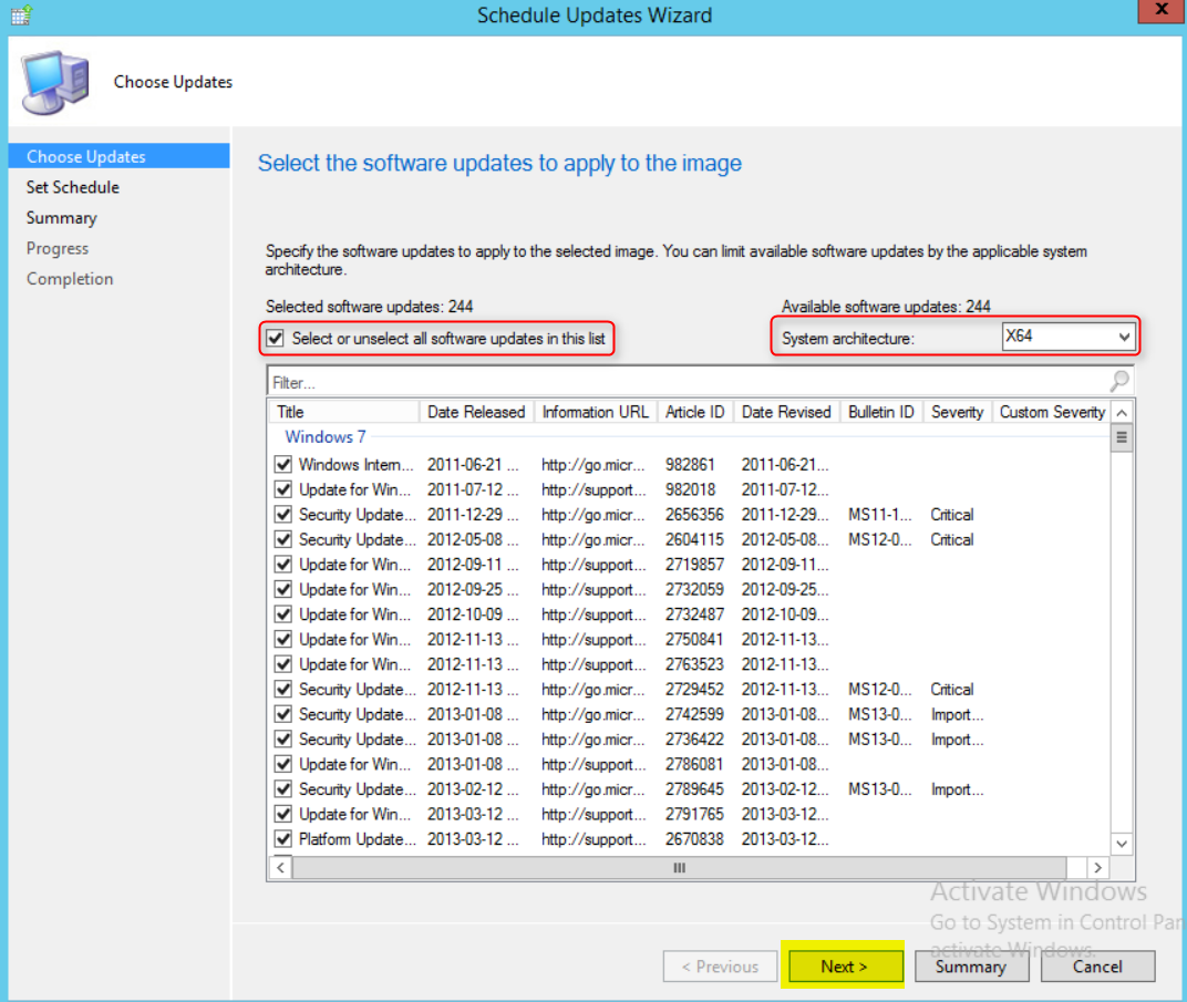 Inject Software Updates in your WIM using SCCM Offline Servicing