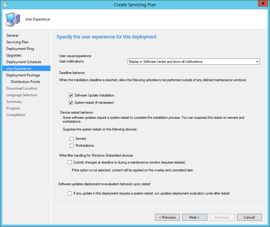 Upgrade Windows 10 using SCCM Servicing Plans