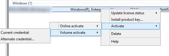 Windows 10 KMS Activation and Management using Volume
