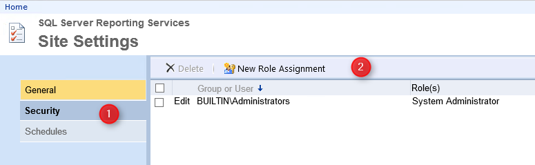 SCCM Report Administrator Role