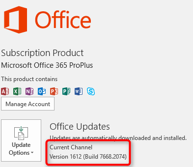 Switch from Office 365 Deferred Channel to Current Channel using SCCM