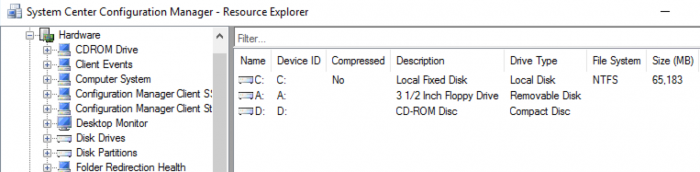 SCCM Device Hardware inventory