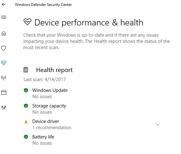 Windows 10 Creators Update Endpoint Protection