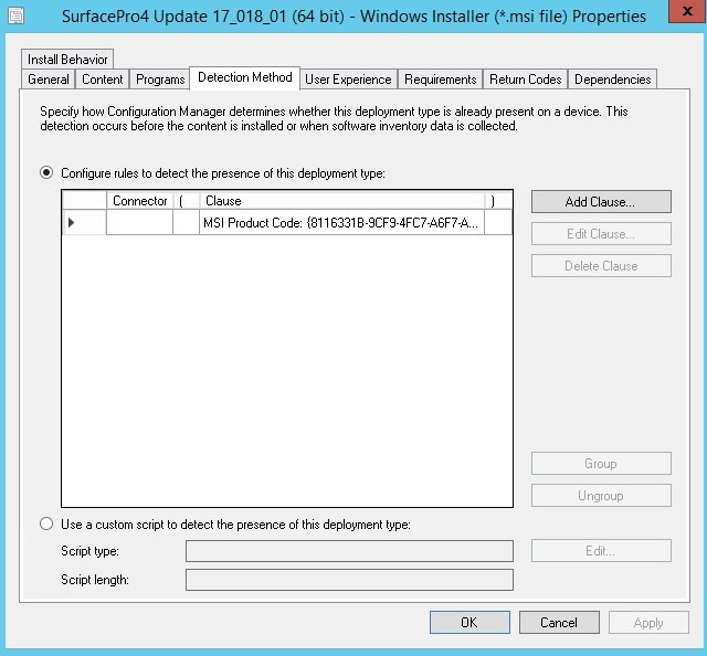 Update Microsoft Surface Firmware using SCCM