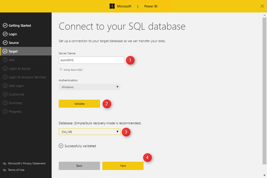 How to install and configure SCCM Power BI Dashboard