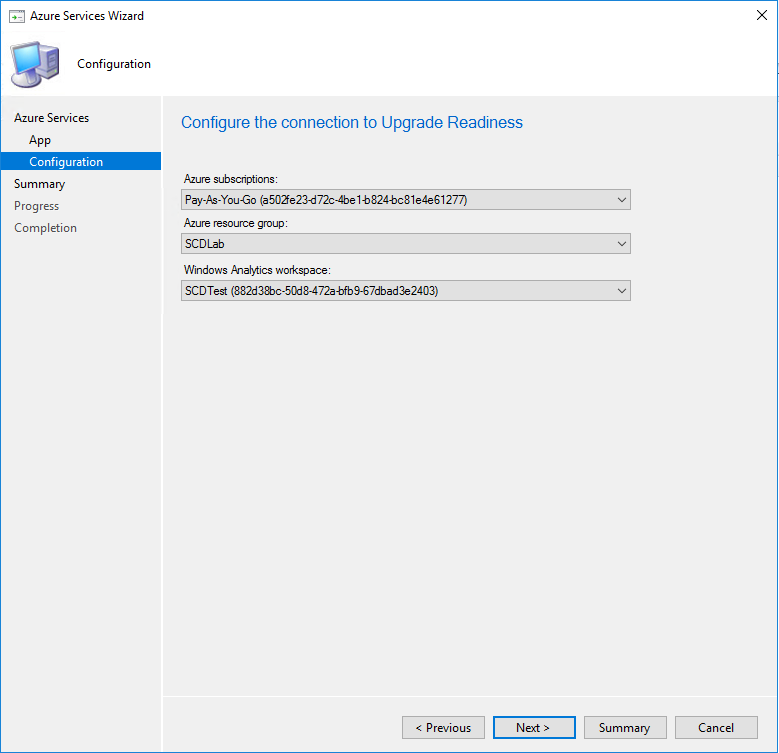 SCCM Upgrade Readiness Connector