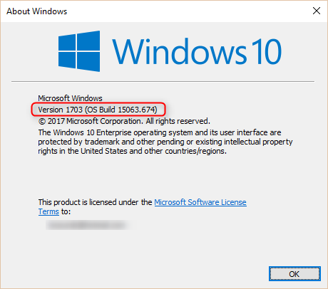 SCCM Windows 10 1709 Upgrade