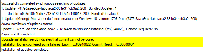 SCCM Windows 10 Feature Update Error 0xC1900208