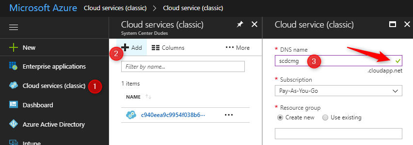 How to configure SCCM 1806 Cloud Management Gateway