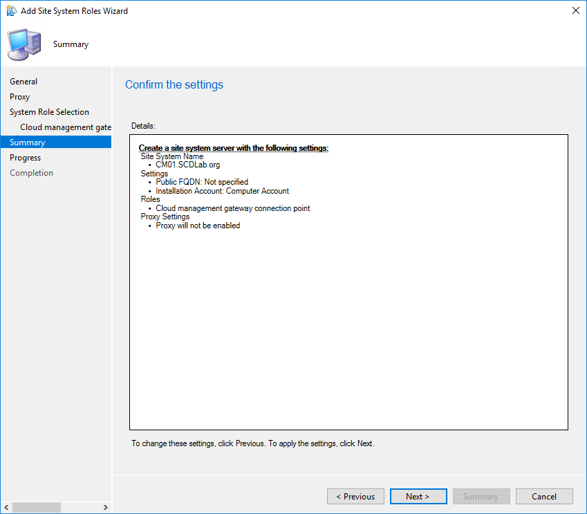 SCCM Cloud Management Gateway