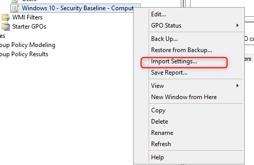 How to use the Windows 10 Security baseline