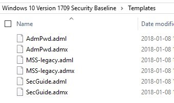 Windows 10 Security baseline