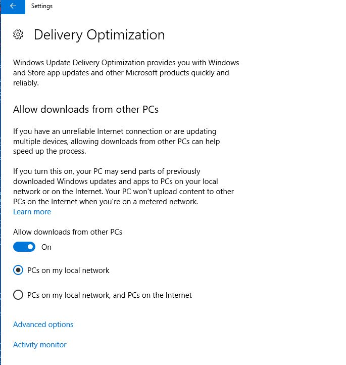 SCCM Delivery Optimization Task sequence