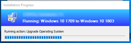 SCCM Windows 10 1803 Upgrade