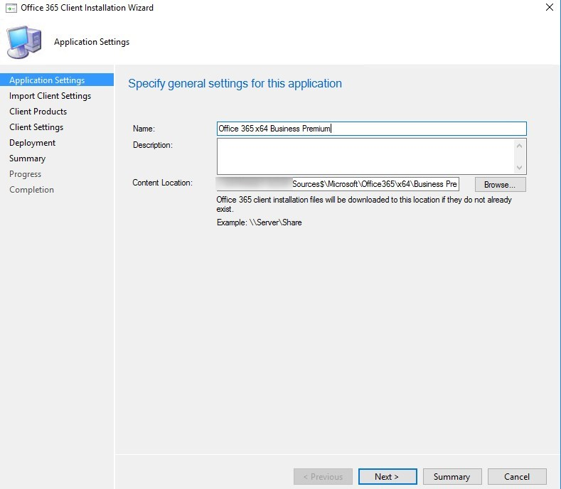 SCCM Office 365 Installer