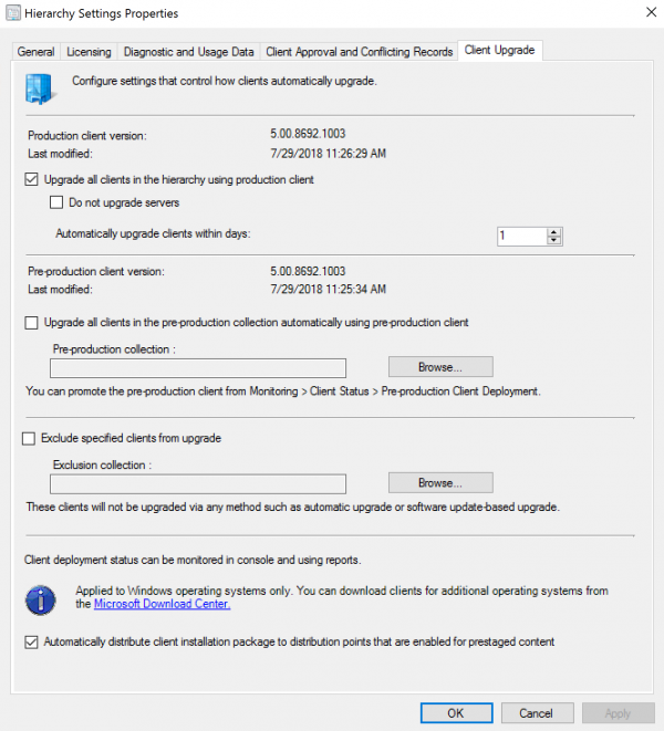 Step-by-Step SCCM 1806 Upgrade Guide