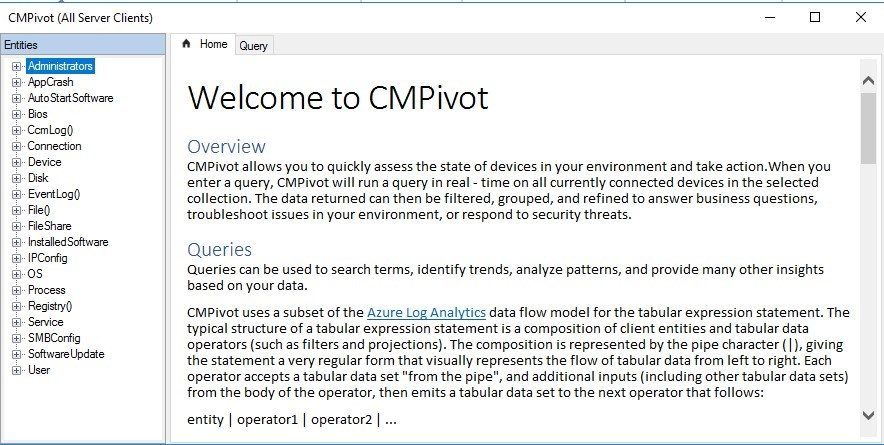 How to use SCCM CMPivot